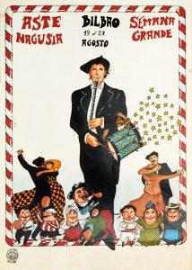 Cartel Aste Nagusia 1978 - Qué visitar en el País Vasco